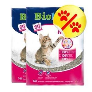 2 x Biokats Micro Fresh 14 l Katzenstreu mit Sommerduft mit feiner Körnung -