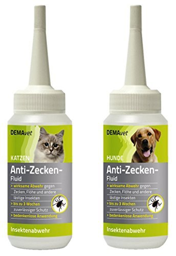 demavet anti zeckenfluid f r katzen hochwirksames insektenschutzmittel h lt zecken fl he. Black Bedroom Furniture Sets. Home Design Ideas
