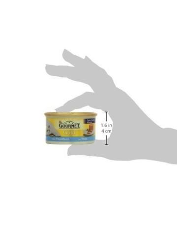 Gourmet Gold Katzenfutter Feine Pastete mit Thunfisch, 12er Pack (12 x 85 g) Dosen -