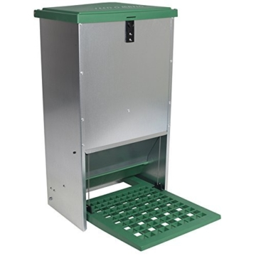 Automatischer Futtertrog Feedomatic 20kg, Geflügelfutterautomat für Hühner, Gänse, Enten -