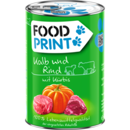 Foodprint Adult Kalb mit Kürbis 6x400g