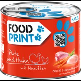 Foodprint Adult Pute & Huhn mit Möhren 6x200g