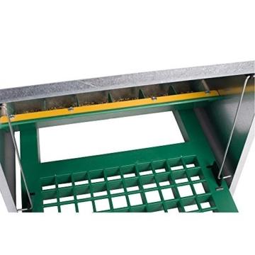 Futterautomat Feedomatic 8kg mit Trittplatte für 8kg Futter, Geflügel-Futterautomat, Hühnertrog, Futtertrog -