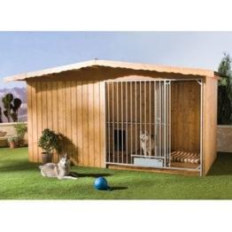 Hundezwinger Charly mit Hundehütte 300 x 200 x 225 cm ohne Bodenplatte