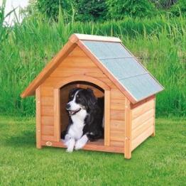 natura Hundehütte mit Satteldach lasiertes Kiefernholz M