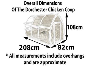 Reich der Tiere® Pets Imperial® Dorchester – Hühnerstall – für Hühner Hasen Geflügel Vögel – Nistkasten -