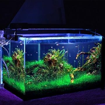 amzdeal Aquarium Beleuchtung RGB LED Lampe Leuchten , 144LED Schwarz -
