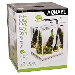 Aquael Aquarium Shrimp Set SMART LED, Komplettset mit moderner LED-Beleuchtung (schwarz, 30 Liter) -