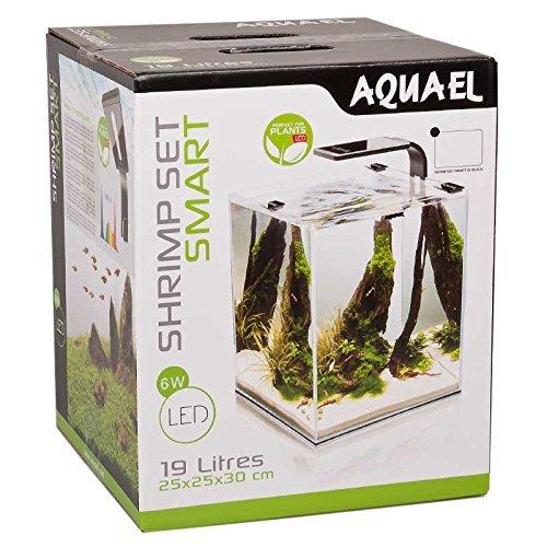 Aquael aquarium shrimp set smart led komplettset mit for Teichfische schwarz
