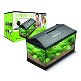 Aquael LEDDY 60ausgestattetes Aquarium 60x 30x 30cm 54L -