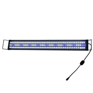 Aquarien Eco 34W LED Aquarium Beleuchtung Aufsetzleuchte Blau Weiß Lampe 90-115cm A077 -