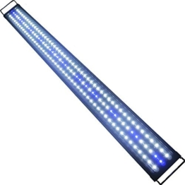 Aquarien Eco LED Aquarium Fische Tank Beleuchtung Aufsetzleuchte Blau Weiß Aquairum Abdeckung 125-140CM (120cm 33W)A060 -