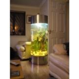 Aquarium in Säulenform, Edelstahl -