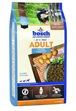 bosch Hundefutter Adult Fisch &  Kartoffel 1 kg, 5er Pack (5 x 1 kg) -
