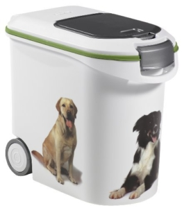 Curver 03905-P70-00 Pet-Futter-Container 12 kg, 49.3 x 27.8 x 42.5 cm, 35 L -