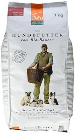 defu Bio Tierfutter für ältere Hunde kleiner Rassen 3 kg, 1er Pack (1 x 3 kg) -
