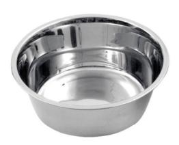 Edelstahl Hundenapf ca. 1800ml Napf Schüssel Trinknapf Futternapf -