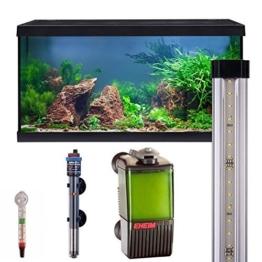 Eheim Aquarium komplett Set Aquastar 54 LED, Süßwasser Aquarien Set 60x30x30cm, 54 Liter (schwarz) -