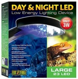 Exo Terra Tag & Nacht LED Beleuchtung, geringe Wärmeentwicklung. 22 x 24,5 x 8,5cm (BxHxT) -