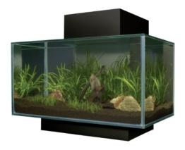 Fluval 15397 - Edge Nano Aquarium, schwarz -