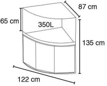 Fluval A11906 Eckaquariumkombination mit Panoramablick Venezia, 350 l, kernbuche -