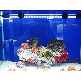 G-Lighting® Aquarium LED Beleuchtung Leuchte Lampe 57 LEDs 4W 48CM Lighting für Fisch Tank, EU Stecker Weiß Wasserdicht -