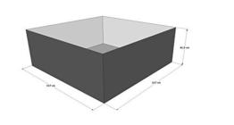 Gartenteich Hochteich Teich Einsatz 117x117 cm -