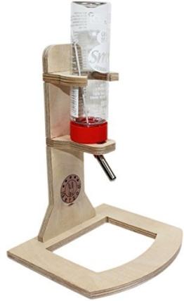 Getzoo Tränke aus Holz + Classic® Trinkflasche 150 ml -