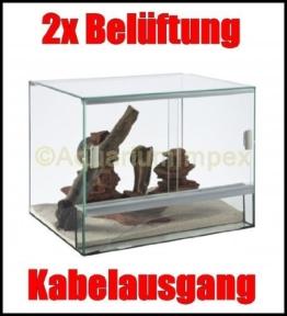 Glas Terrarium mit Belüftung 30x25x25 cm 30 25 -