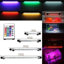 GreenSun 48CM Aquarium LED Beleuchtung 16 Farb RGB-Steuerung Leuchte Lampe Lighting für Fisch Tank EU Stecker Wasserdicht -