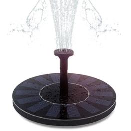 Hiluckey Solar Brunnen pumpe mit 1.4W Monokristalline Solar Panel Freie stehende Brunnen und pumpe für Gartenteich,Vogel-Bad, Fisch-Behälter, kleiner Teich -
