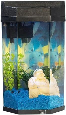 "infactory Säulen-Panorama-Aquarium ""Neptun"" im Komplett-Set, 7 Liter -"