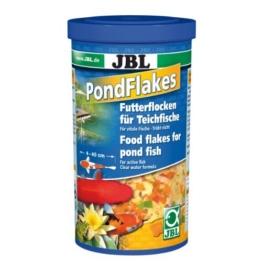 JBL 40195, Hauptfutter für alle Teichfische, Futterflocken PondFlakes, 1 l -