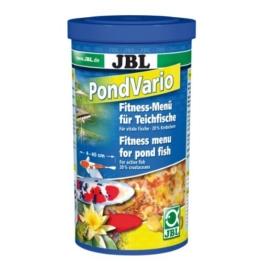JBL 40290 Hauptfutter Mix für alle Teichfische, Futterflocken, Sticks, Krebstiere PondVario, 1 l -