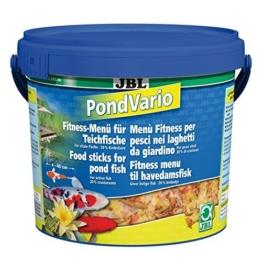 JBL 40296 Hauptfutter Mix für alle Teichfische, Futterflocken, Sticks, Krebstiere PondVario, 1er Pack (1 x 5.5 l) -