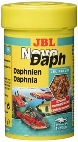 JBL Leckerbissen für Aquarienfische, naturgetrocknete Wasserflöhe 100 ml, NovoDaph 30700 -