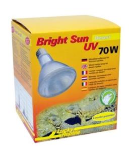Lucky Reptile BSD-70 Bright Sun UV Desert, 70 W, Metalldampflampe für E27 Fassung mit UVA und UVB Strahlung -
