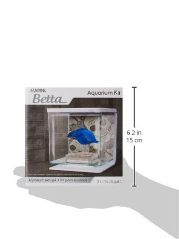Marina Betta Kit Aquarium für Kampffische, Totenkopf-Design, 2 l -