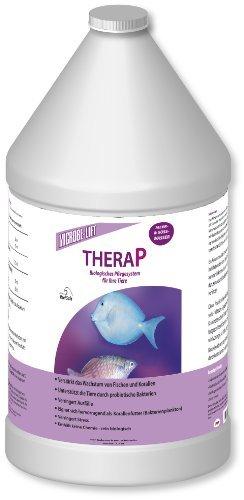 MICROBE-LIFT TheraP – (Qualitäts-Bakterienpräparat, zur optimalen Tierpflege in jedem Meerwasser & Süßwasser Aquarium, für optimale Gesundheit und Wachstum, reduziert Ausfälle, 100 % biologisch, Wasseraufbereiter, ausreichend für 50.400 Liter), 3785 ml -