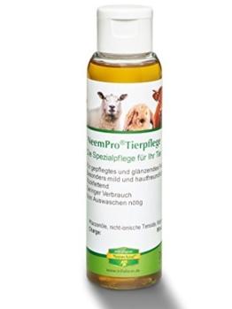 NeemPro Tierpflege 100 ml für gepflegtes Fell Haustier Hund Shampoo mit Margosaextrakt Neem ohne Auswaschen -