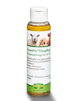 NeemPro Tierpflege 100 ml für gepflegtes Fell Haustier Pferd Shampoo mit Margosaextrakt Neem ohne Auswaschen -