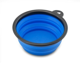 Reisenapf von der Marke PRECORN Hunde Katzen Haustier Futternapf faltbarer Napf Trinknapf Wassernapf in der Farbe blau -
