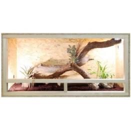 Repiterra® Terrarium aus Holz 120x60x60 cm mit Seitenbelüftung aus OSB Platten mit Floatglas -