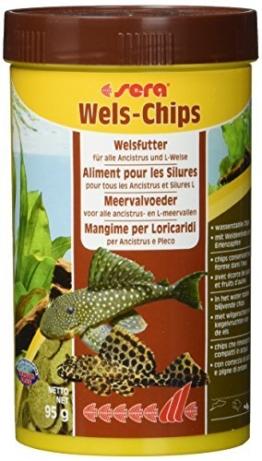 sera 00511 Wels-Chips 250 ml - Die Chips für raspelnde Welse (z.B. Ancistrus und L-Welse) -