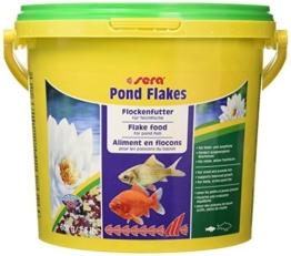 sera 07075 pond flakes 3800 ml - das lange schwimmende Flockenfutter für kleinere Teichfische -