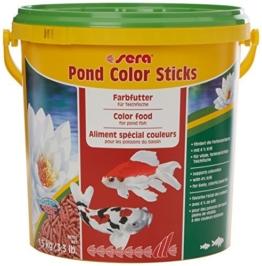 sera 07159 pond color sticks 10 l - das Farbfutter für Teichfische mit 4 % Krill -