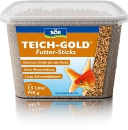 Söll 14643 TeichGold Futter-Sticks - Alleinfuttermittel für alle Teichfische - schwimmfähige Teichsticks - 7,5 l -