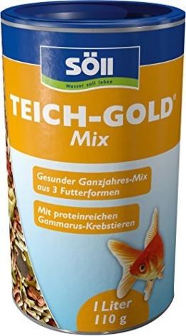 Söll  18808 Teich-Gold Mix - Alleinfuttermittel für alle Teichfische - Fischfutter - Gartenteich, 1er Pack (1 x 1 l) -