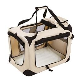 Songmics Hundebox faltbar Oxford Gewebe Maße auswählbar - S 50 x 35 x 35 cm PDC50W -