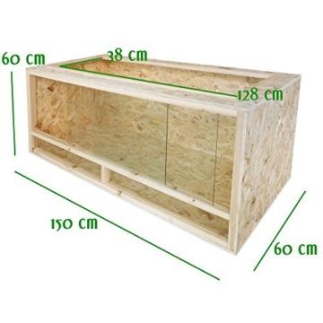 Terrarium für Landschildkröten Schildkröte 150 x 60 x 60 cm Holz Holzterrarium -